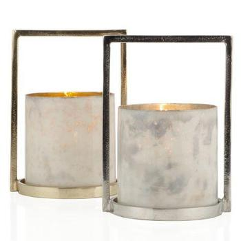 Decor/Accessories - Tabori Hurricane | Z Gallerie - contemporary silver hurricane, contemporary gold hurricane, gold hurricane candle holder, silver hurricane candle holder,