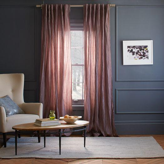 Stella curtain sugar plum west elm for West elm window treatments