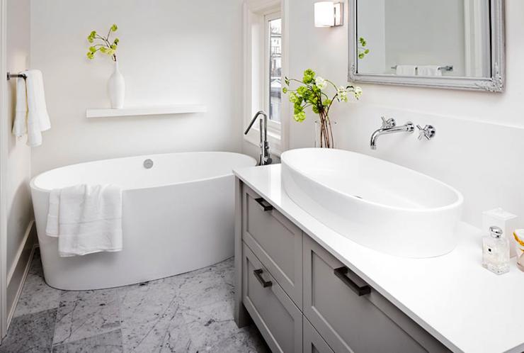Gray Bathroom Vanity Contemporary Bathroom Sophie