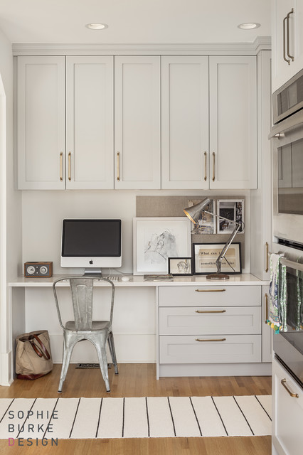 Kitchen Desk Contemporary Kitchen Sophie Burke Design