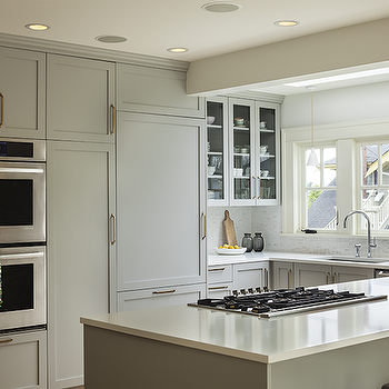 Gray Kitchen Cabinets, Transitional, kitchen, Sophie Burke Design