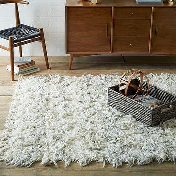 Chevron Wool Shag Rug, west elm