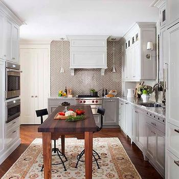 Gray Herringbone Subway Tiles, Transitional, kitchen, TerraCotta Properties