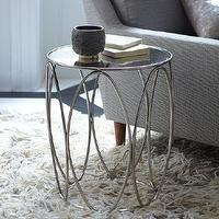 Tables - Oval Rings Side Table | west elm - polished nickel oval ring side table, art deco style polished nickel side table, polished nickel side table with mirrored top,