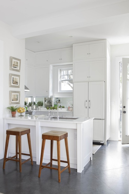 Concealed Refrigerator Transitional Kitchen Denman