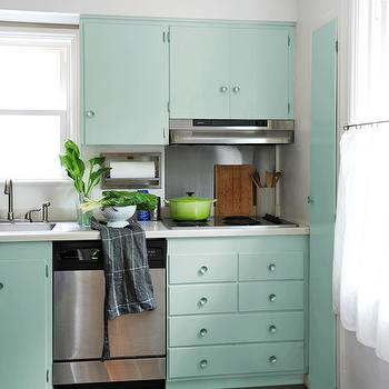 Mint Green Kitchen Cabinets Design Decor Photos