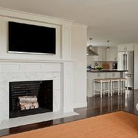 TV-over-fireplace - Design, decor, photos, pictures, ideas