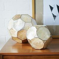 Decor/Accessories - Capiz Spheres | west elm - capiz shell decor, capiz shell spheres, capiz shell paperweights,