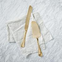 Decor/Accessories - Gold Pie Serving Set | west elm - gold flatware, metallic gold serving set, gold pie serveware, gold pie serving set,