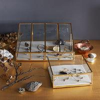 Decor/Accessories - Glass Shadow Boxes | west elm - glass and gold shadow box, gold and glass box, gold framed glass storage box,