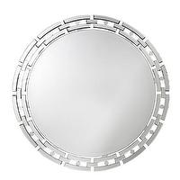 Mirrors - Sierra Chain Mirror I The Cross Design - contemporary round mirror, round mirror with geometric mirrored frame, round mirror framed mirror, modern round mirror,