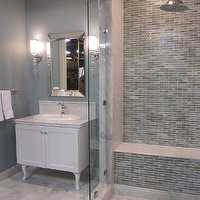 Kirsty Froelich - bathrooms - tile, from, the, Tile, Shop,  ceramic, marble and glass bathroom, custom white vanity