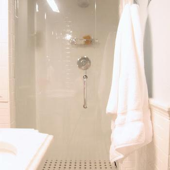 Octagon and Dot Tiles, Transitional, bathroom, M. E. Beck Design