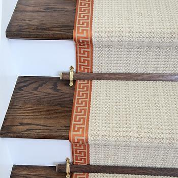 Greek Key Stair Runner, Transitional, entrance/foyer, Habitually Chic