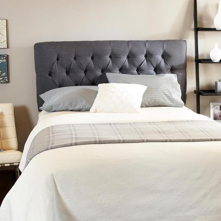 Humble + Haute Hampton Charcoal Tufted Headboard - Overstock.com