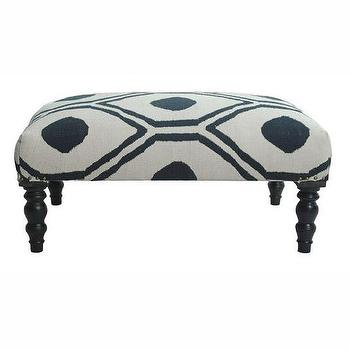 Seating - nuLOOM Contemporary Blue Trellis Cotton Ottoman Bench | Overstock.com - blue and white contemporary ottoman bench, geometric blue and white ottoman, blue and white trellis ottoman,