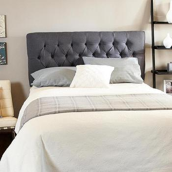 Beds/Headboards - Humble + Haute Hampton Charcoal Tufted  Headboard | Overstock.com - charcoal gray tufted headboard, gray tufted headboard, charcoal gray diamond button tufted headboard, charcoal gray button tufted headboard,