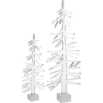 Miscellaneous - acrylic trees | CB2 - acrylic trees, acrylic christmas decor, acrylic christmas decorations,