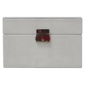 Decor/Accessories - Threshold Jewelry Box - White I Target - white jewelry box, contemporary white jewelry box, white jewelry box with silver latch,