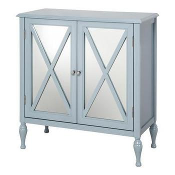 Storage Furniture - Hollywood Mirrored Accent Cabinet I Target - blue mirrored accent cabinet, blue mirror front accent cabinet, blue mirror fronted accent cabinet,