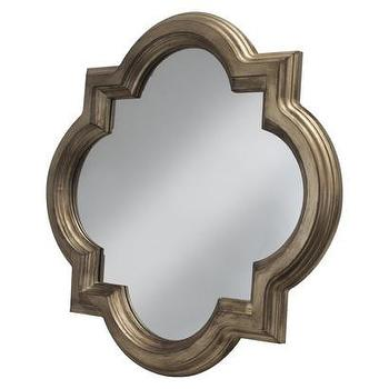 Mirrors - Threshold Clover Mirror - Gold I Target - gold quatrefoil mirror, quatrefoil mirror, metallic quatrefoil mirror,