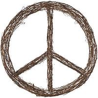 Miscellaneous - inner peace wreath | CB2 - woven twig peace wreath, peace symbol wreath, woven peace symbol wreath,
