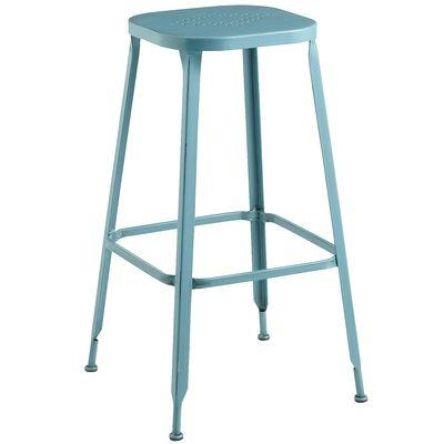 Weldon backless barstool teal i pier one - Teal blue bar stools ...