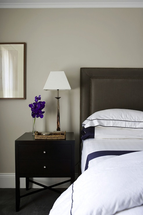 Dark Gray Headboard Contemporary Bedroom Denai