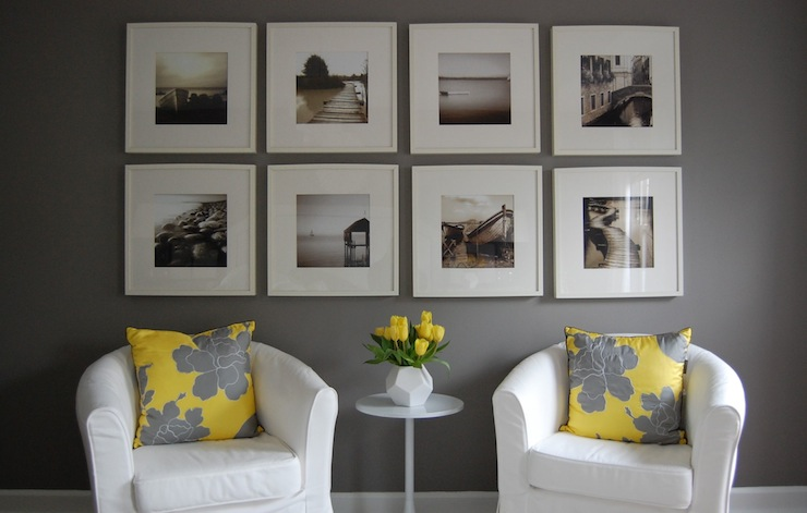 Yellow And Gray Room Transitional Bedroom Benjamin