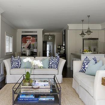 Open Concept Living Room, Transitional, living room, Denai Kulcsar Interiors