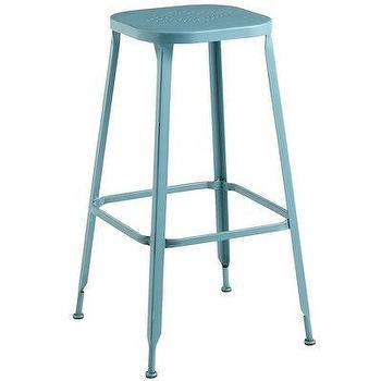 Abbyson living colin light blue linen bar stool shopping the best deals on bar - Teal blue bar stools ...