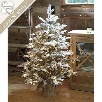 Miscellaneous - Suzanne Kasler Flocked Frasier Fir Tabletop Tree | Ballard Designs - pre lit christmas tree, pre lit frasier fir table top christmas tree, pre lit table top christmas tree,