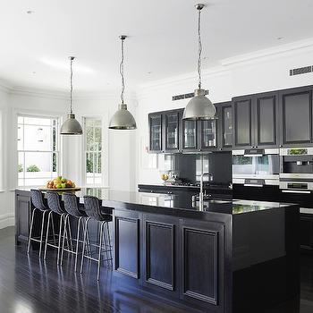 Black Kitchen, Contemporary, kitchen, Denai Kulcsar Interiors