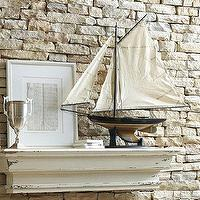 Decor/Accessories - Sail Boat Model Newport Sloop | Ballard Designs - decorative sail boat, model sail boat, sail boat replica model,