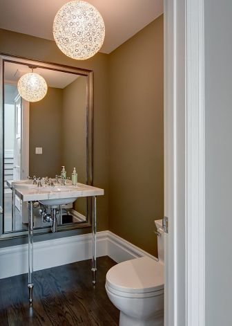 Taupe Walls Contemporary Bathroom