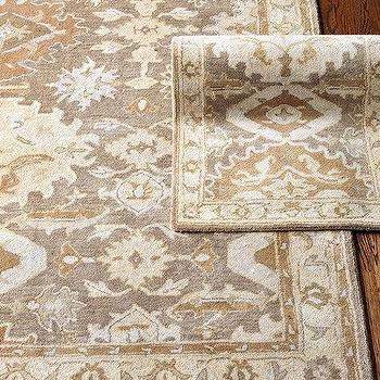 Rugs - Colburn Hand Tufted Rug | Ballard Designs - neutral persian style rug, neutral persian rug, camel and gray persian rug, neutral toned persian style rug, gray and camel colored persian rug,
