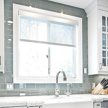 Gray Glass Subway Tiles, Contemporary, kitchen, Jaffa Group