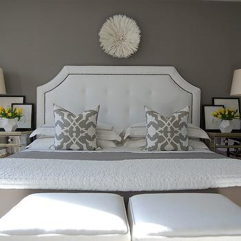 Gray Bedroom, Transitional, bedroom, Benjamin Moore Galveston Gray