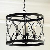 Lighting - Harrison 4 Light Pendant | Ballard Designs - round iron medallion pendant, mediterranean style pendant, openwork metal pendant,