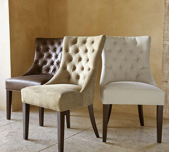 Hayes Tufted Chair Pottery Barn