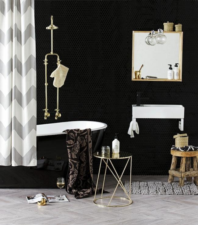 Chevron Shower Curtain Contemporary Bathroom Erin Michael
