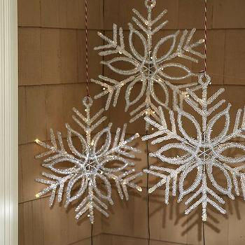 Miscellaneous - Lit LED Snowflake | Pottery Barn - led snowflake, hanging lit snowflake, hanging led lit snowflake,