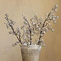 Miscellaneous - Faux LED Lit Silver Branch | Pottery Barn - led lit silver branch, lit silver branch, led lit faux silver branch,