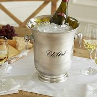Miscellaneous - Antique-Silver Wine Cooler | Pottery Barn - wine cooler, silver wine cooler, vintage style wine cooler, wine bucket, antiqued silver wine bucket,