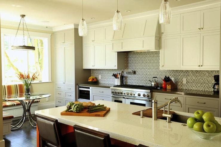 geometric backsplash contemporary kitchen artistic designs for