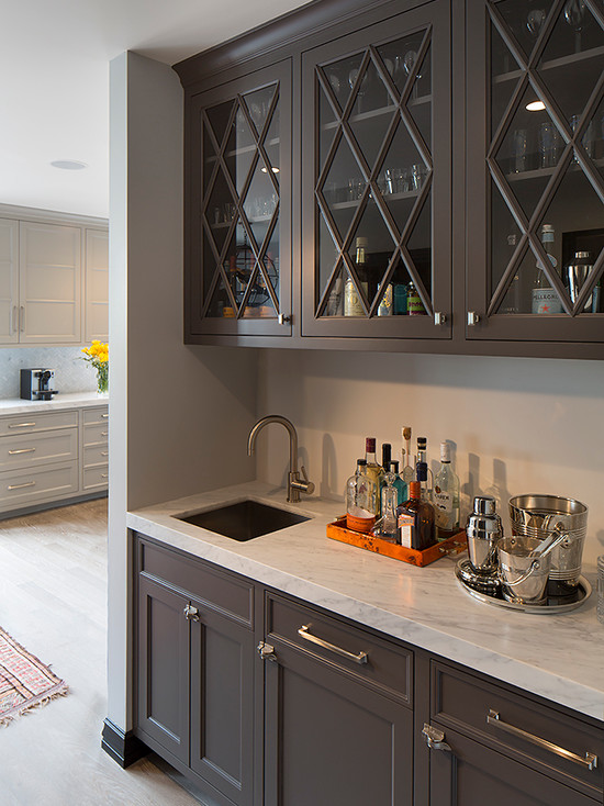 Gray Butler S Pantry Contemporary Kitchen Artistic