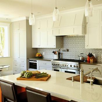 Geometric Backsplash, Contemporary, kitchen, Artistic Designs for Living
