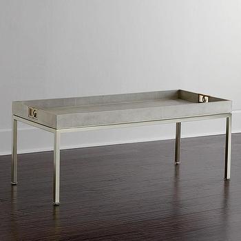 Avalon Shagreen Desk I Zinc Door