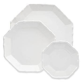 Decor/Accessories - Jonathan Adler Catherine 3-pc. Bamboo Trim Nested Platter Set I jcpenney - hexagonal bamboo plates, bamboo trimmed nesting platters, hexagonal bamboo trimmed dinnerware,