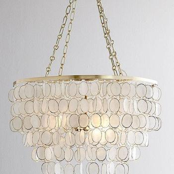 Lighting - Aurora Capiz Shell Chandelier I Horchow - capiz chandelier, capiz shell chandelier, tiered capiz shell chandelier,